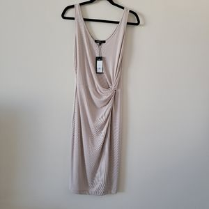 Dynamite front knot Midi Dress